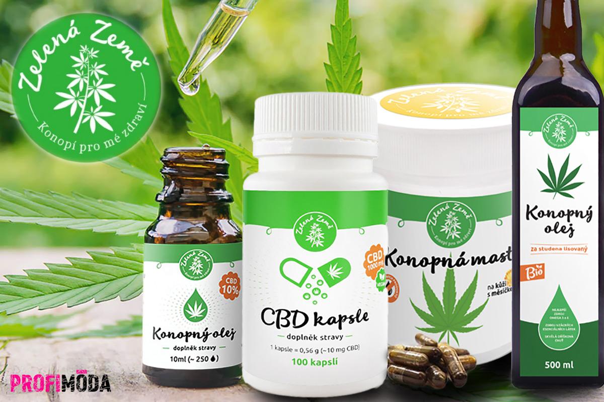 Konopné produkty s kanabinoidy se nabízí v různých formách.